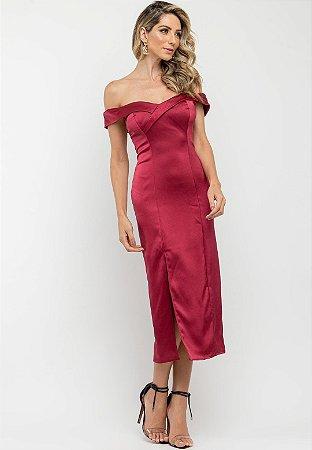 Vestido Irina Marsala