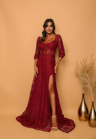Vestido Aline Marsala