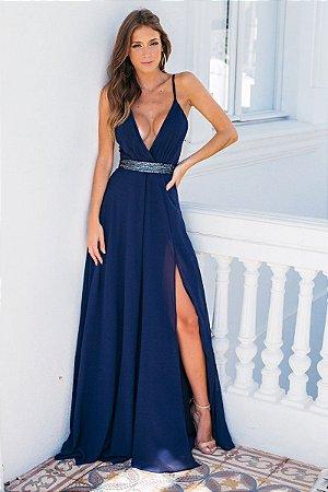 Vestido Sônia Azul Marinho