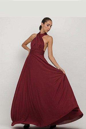 Vestido Mil Formas Jersey Marsala