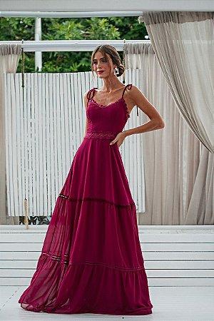 Vestido Sofia Fúcsia