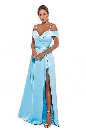 Vestido Merlyn Azul Tiffany