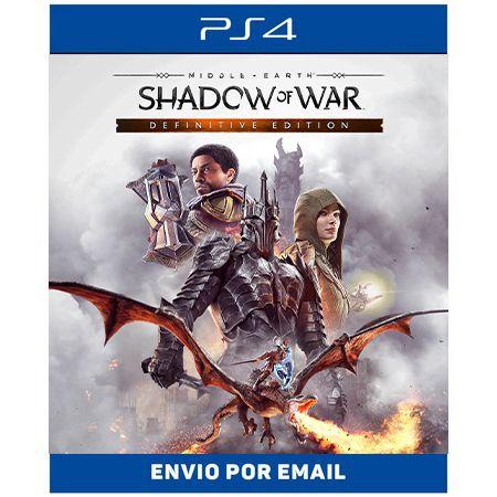 Terra-média Sombras da Guerra Edição Definitiva - Ps4 Digital