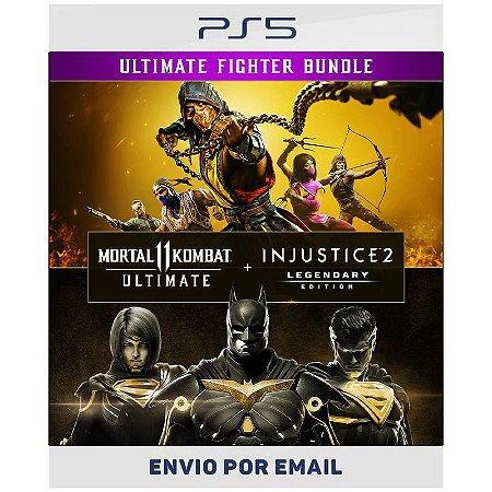 Pacote Mortal Kombat 11 Ultimate + Injustice 2 Ed. Lendária - Ps5 & Ps4 Digital