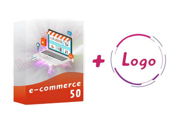 E-commerce 50 + Logo
