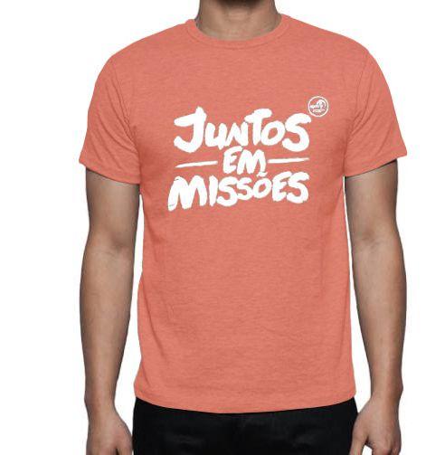 Juntos em Missões - Camiseta salmão