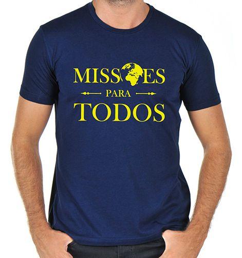 Missões Para Todos - Camiseta - Azul