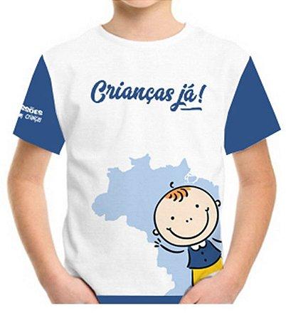 Campanha Crianças Já - Camiseta infantil menino