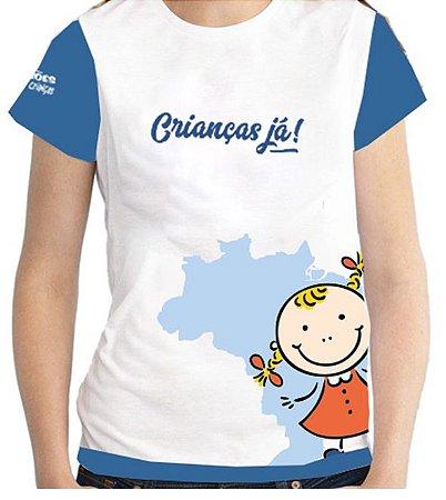 Campanha Crianças Já - Camiseta infantil menina