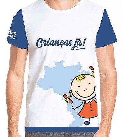 Campanha Crianças Já - Camiseta adulto