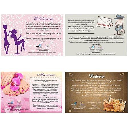Cartões dos Profissionais - Kit com 4