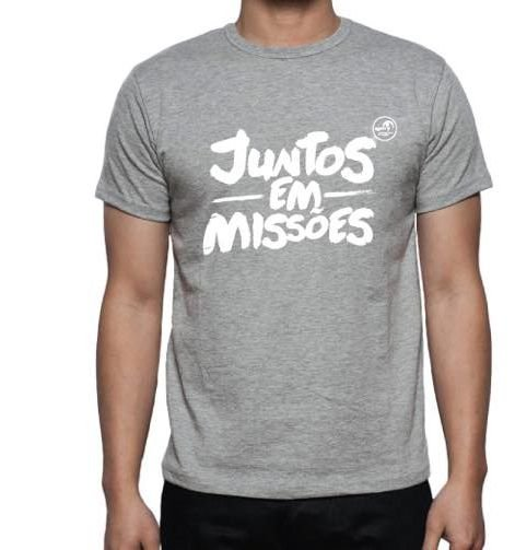Juntos em Missões - Camiseta Cinza