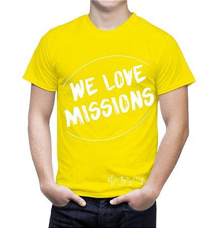 """""""We love Missions"""" - Camiseta amarela"""