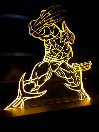 Luminária Abajour  de acrílico - Wolverine  – Heroes