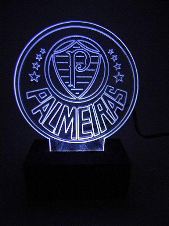 Luminária de acrílico - Palmeiras - Branca