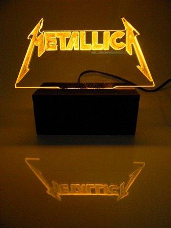 Luminária de acrílico - Metallica - Amarela