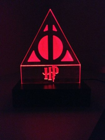 Luminária de acrílico - Harry Potter - Vermelho