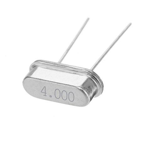 Cristal Oscilador 4.000 MHZ HC-49S Caneca Baixa