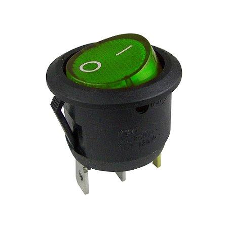 Chave Gangorra Redonda KCD1-106N Neon (Verde)