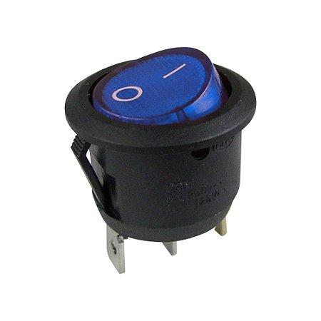 Chave Gangorra Redonda KCD1-106N Neon (Azul)