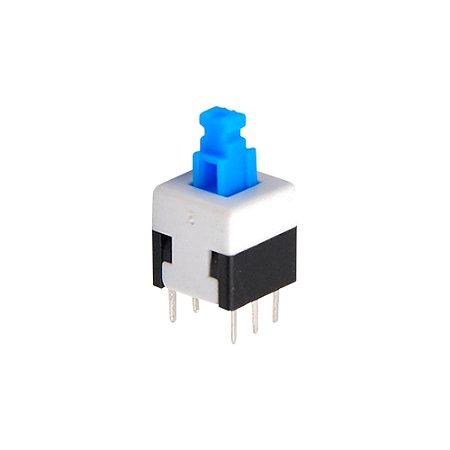 Botão Mini Push Button 0149-1 6T - C/Trava (8X8)