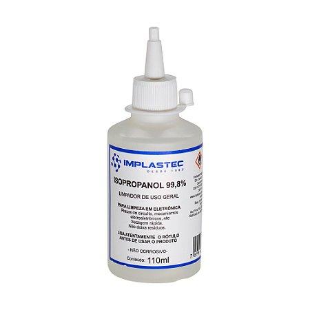Álcool Isopropílico Isopropanol 99,8% Implastec 110ml