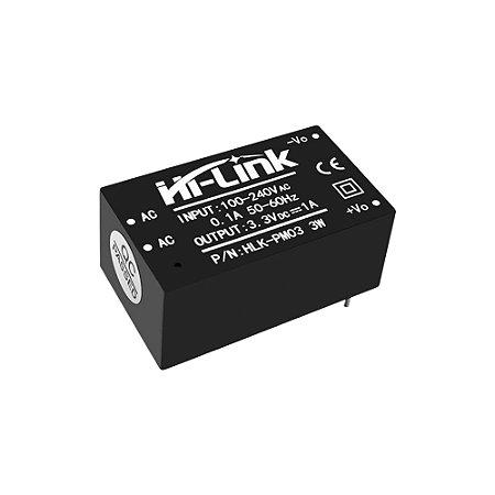 Mini Fonte HLK-PM03 100-240VAC 3.3VDC 1A 3W Hi-Link