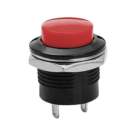 Chave R13-507 125VAC (6A) / 250VAC (3A) S/Trava (Vermelho)