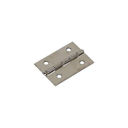 Mini Dobradiça Para Artesanato 25mm (Niquelado)