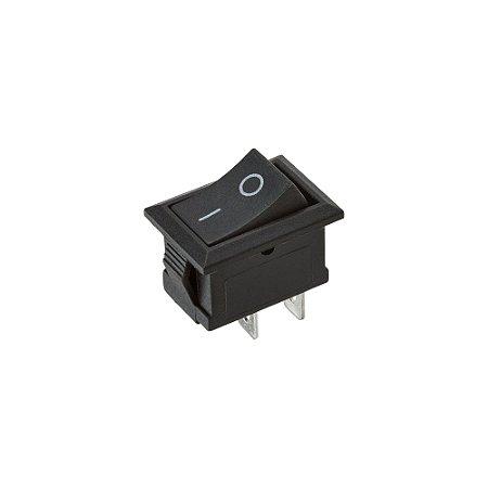 Mini Chave Gangorra KCD11-101 2 Terminais (Preta)