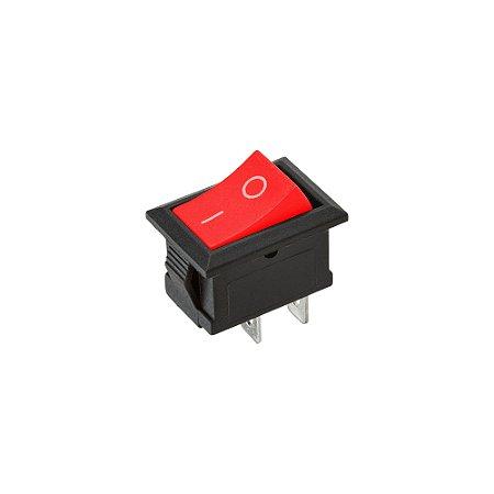 Mini Chave Gangorra KCD11-101 2 Terminais (Vermelha)