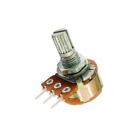 Potenciômetro Rotativo WH160-A 220K L16 3T c/ Chave