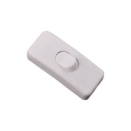Interruptor Botão 3A Meio Fio para Luminária (Branco)