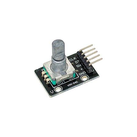 Módulo Encoder Decoder HW-040 Rotativo / Push Button