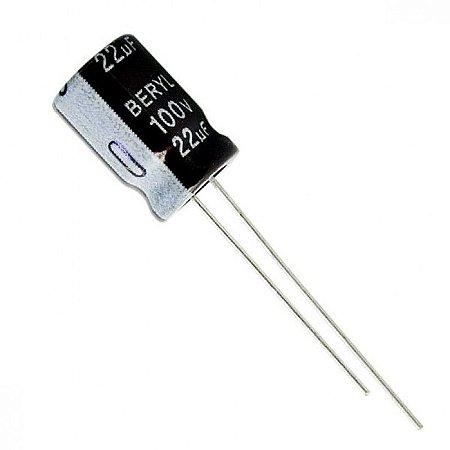 Capacitor Eletrolítico 22uF / 100V