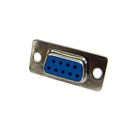 Conector DB9 180° Fêmea