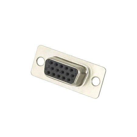 Conector DB15 Super VGA 180° Fêmea