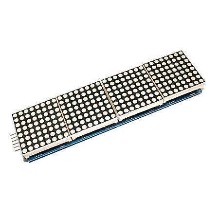 Módulo Matriz de LED 8x8 com 4 Displays MAX7219 Azul