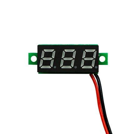 Mini Módulo Voltímetro 2,5-30 VDC Display 3 Dígitos Azul