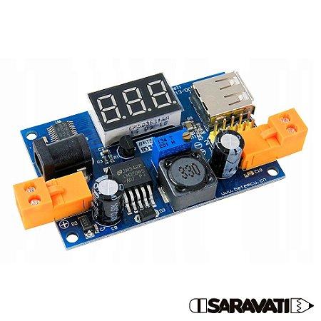 Módulo Regulador de Tensão LM2596 Voltímetro BTE13-001A