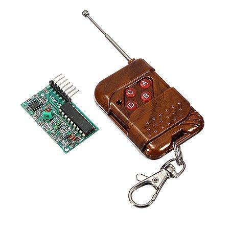 Kit Controle remoto RF 4 Canais + Receptor RF 315Mhz