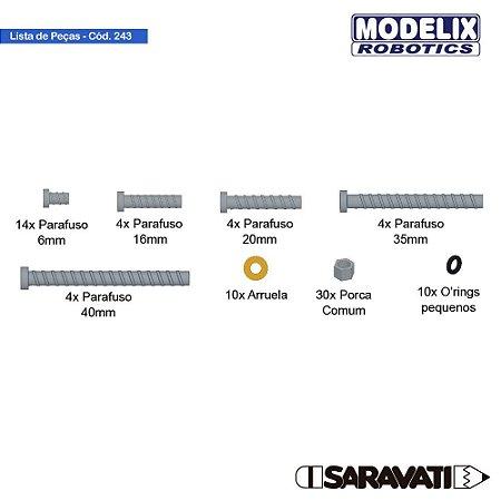 Modelix 243 - Kit Fixação