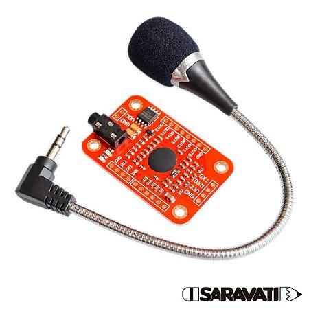 Módulo de Reconhecimento de Voz com Microfone VR3