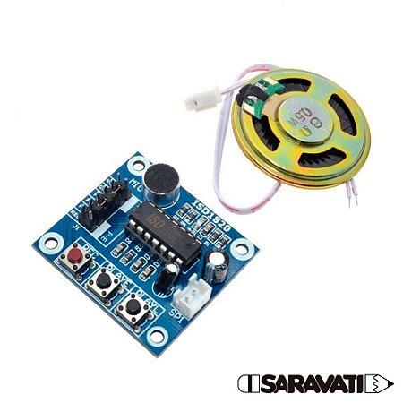 Módulo Gravador de Voz e Som Player ISD1820 com Alto Falante