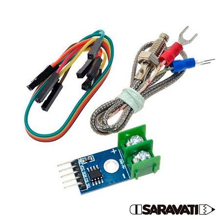 Módulo de Temperatura MAX6675 + Sensor Termopar tipo K