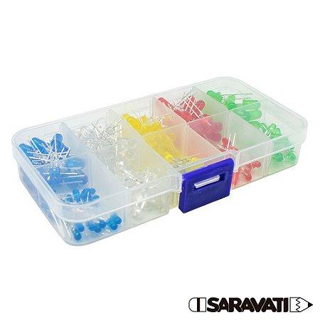 Kit LED 3mm e 5mm + Case (200 LEDs Coloridos)