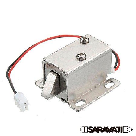Mini Fechadura Solenóide Trava Elétrica 12V