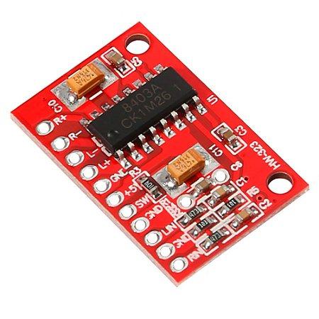 Módulo PAM8403 Mini Amp 2x3W Estéreo CLASS-D Vermelho