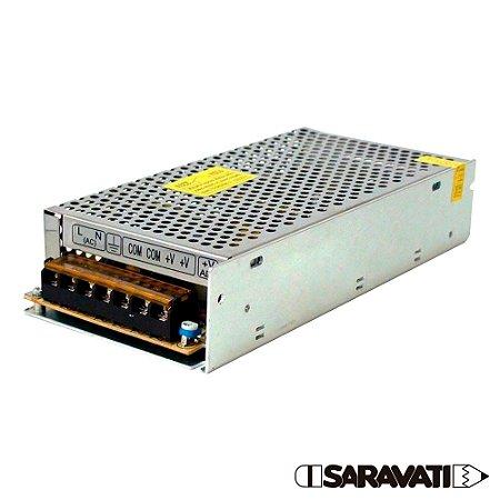 Fonte Chaveada Metal 100-240VAC 120W 12VDC 10A