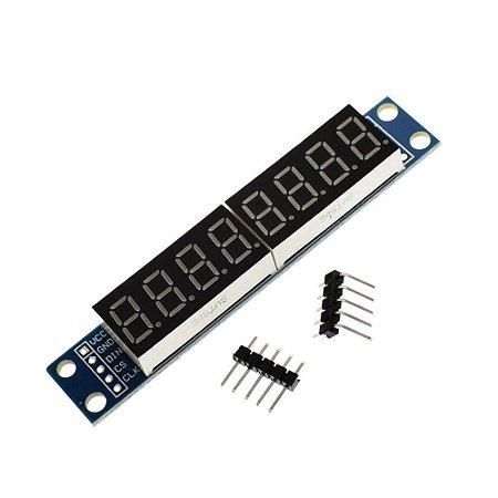 Módulo Display 8 Dígitos de 7 Segmentos MAX7219